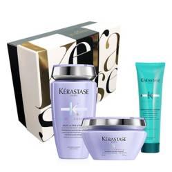 Kerastase - Set Cuidado de Rubios: Shampoo Bain Ultraviolet + Mascarilla Ultraviolet Gratis Thermique Extentioniste 150 ml + Caja Regalo