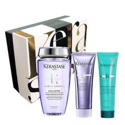Kerastase - Set Cuidado de Rubios: Shampoo Bain Lumiere + Acondicionador Cicaflash Gratis Thermique Extentioniste 150 ml + Caja Regalo