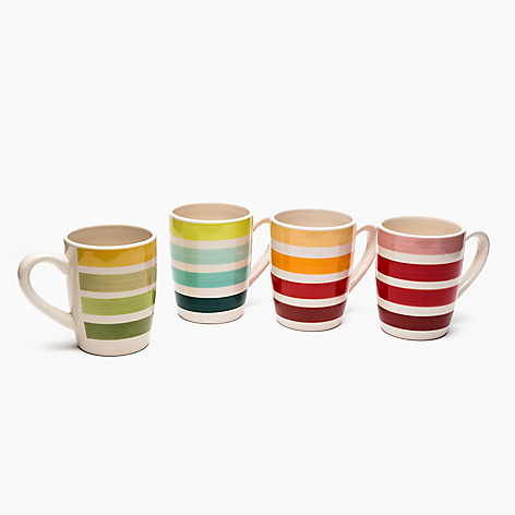 Set x4 Mugs a Rayas 14 oz
