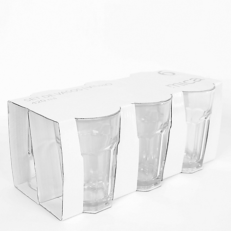 Set X 6 Vasos Tableados