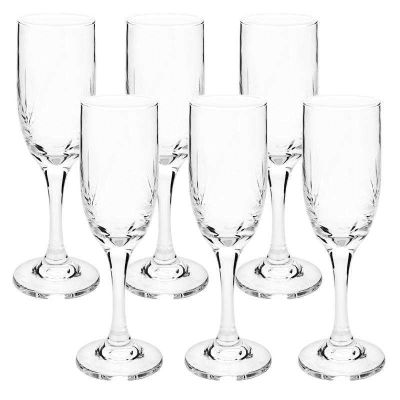 FERRAND - Set Copa Champagne Tallado x 6 Piezas