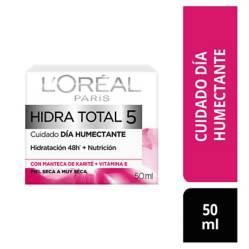 L´ORÉAL PARIS SKIN CARE - Crema humectante de día Hidra-Total 5 x 50 ml