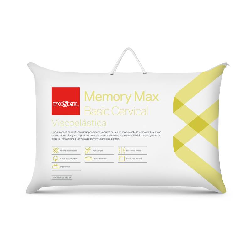 ROSEN - Almohada Memory Max Basic Cervical Estándar 35x53cm