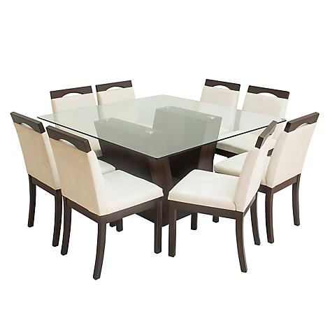 Juego de comedor basement home vattaro 8 sillas for Juego de comedor de 8 sillas moderno