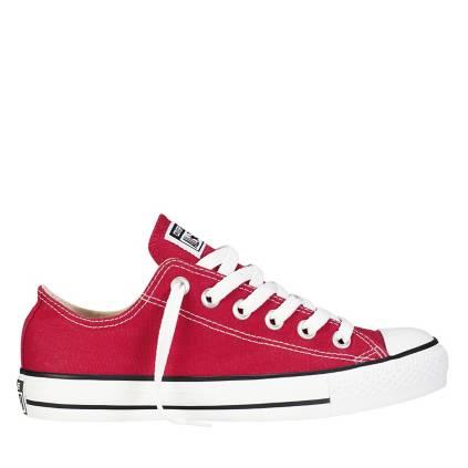 zapatillas tipo converse mujer rojas