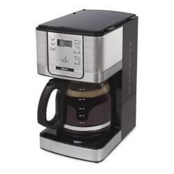 OSTER - Cafetera con Selector Digital 12 Tazas Silver con Negro