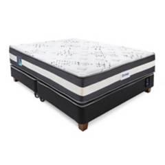 TECHNODREAM - Cama Box Tarima Ozono King + 2 Almohadas + Protector