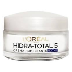 L´ORÉAL PARIS SKIN CARE - Crema humectante de noche Hidra-Total 5 x 50 ml