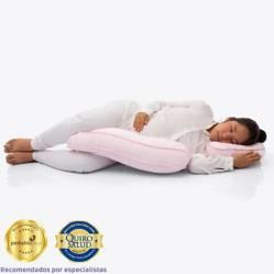 MATERNELLE - Doble Almohada de Lactancia Rosado