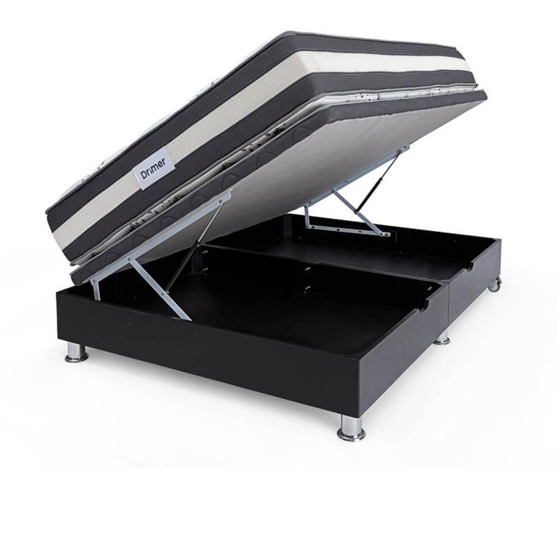 TECHNODREAM - Cama Boxet Ozono 2 Plz + 2 Almohadas + Protector