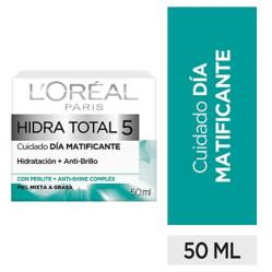 L´ORÉAL PARIS SKIN CARE - Crema hidratante Matificante Hidra-Total 5 x 50 ml