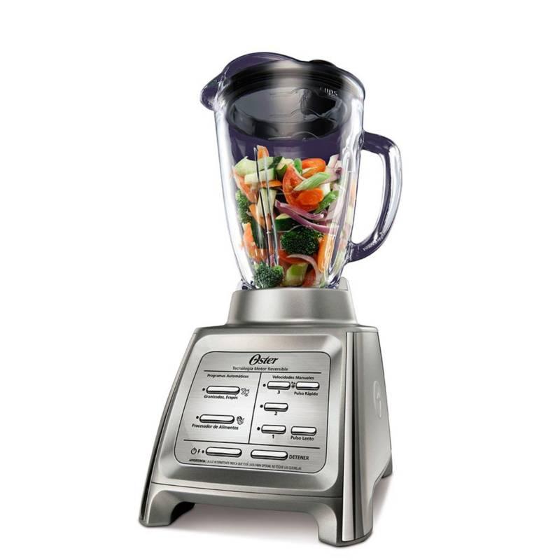 OSTER - Licuadora Reversible Gourmet BLSTRM-DZ0-051 1,5 Lt 600 W Plateada
