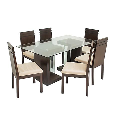 Juego de comedor mica solimana 6 sillas for Juego de comedor peru