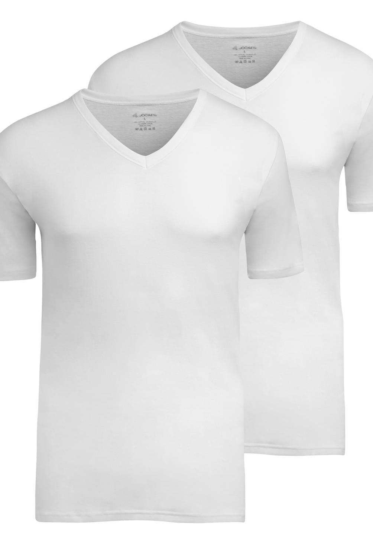 JOCKEY - Polo Cuello V Pack x 2 Blanco