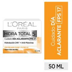 L´ORÉAL PARIS SKIN CARE - Crema humectante Aclarante Hidra-Total 5 x 50 ml