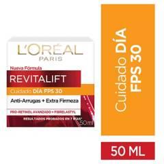 LOREAL - Crema de día anti-arrugas con FPS 30 Revitalift 50 ml