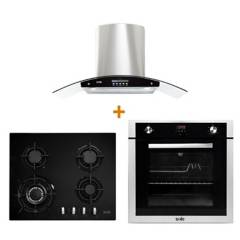 SOLE - Combo Cocina Empotrable + Campana Venus + Horno a Gas