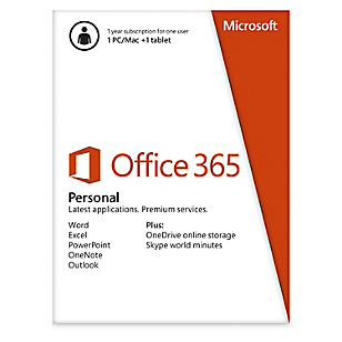 Microsoft Office 365 Personal PC/Mac y Tablet