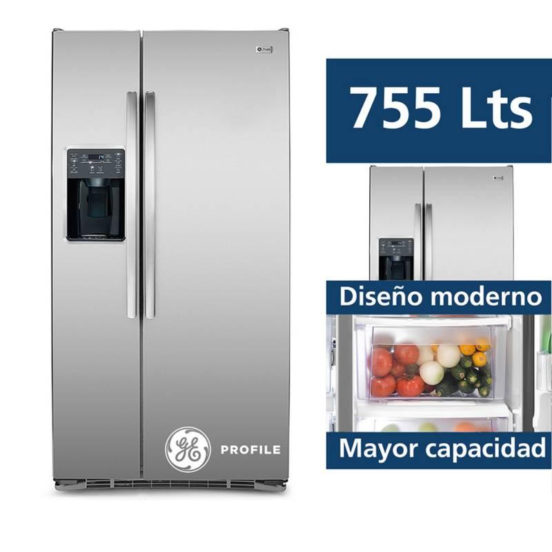 GENERAL ELECTRIC - Refrigeradora GE Side by Side 755L ACERO INOX