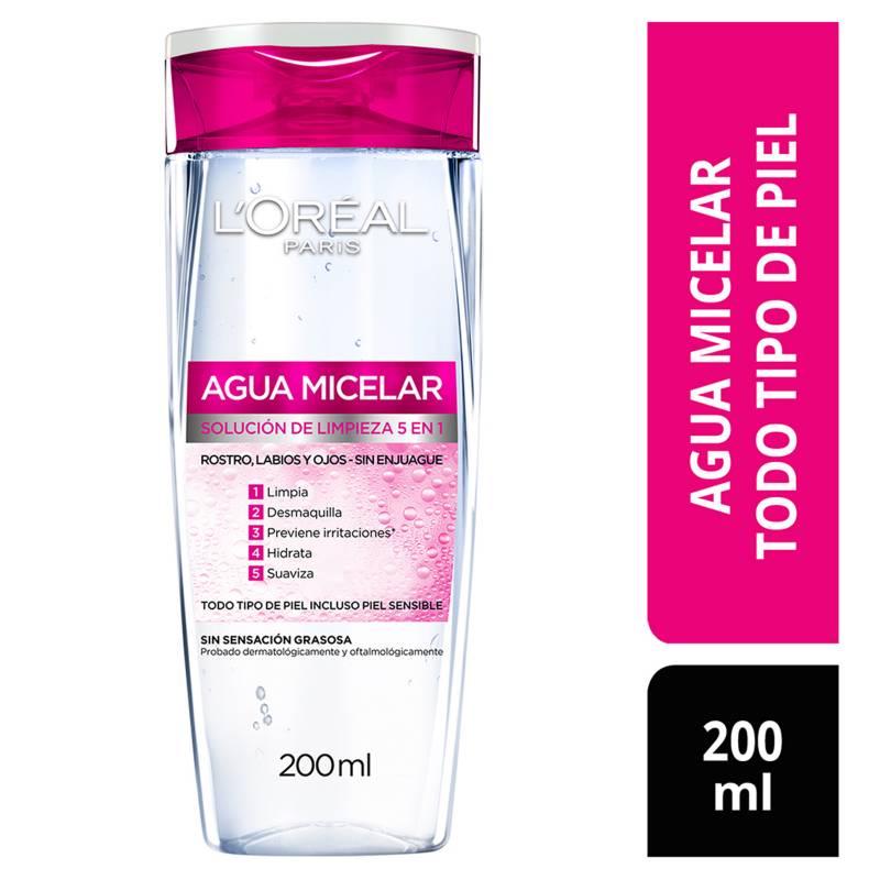 L´ORÉAL PARIS SKIN CARE - Agua micelar desmaquillante Piel sensible 200 ml