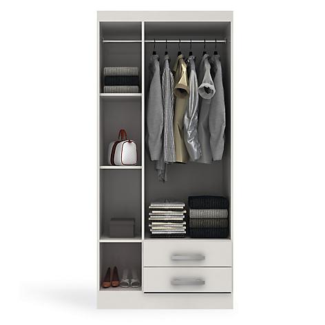 Ropero ambienta 3 puertas 2 cajones blanco for Roperos para dormitorios en lima