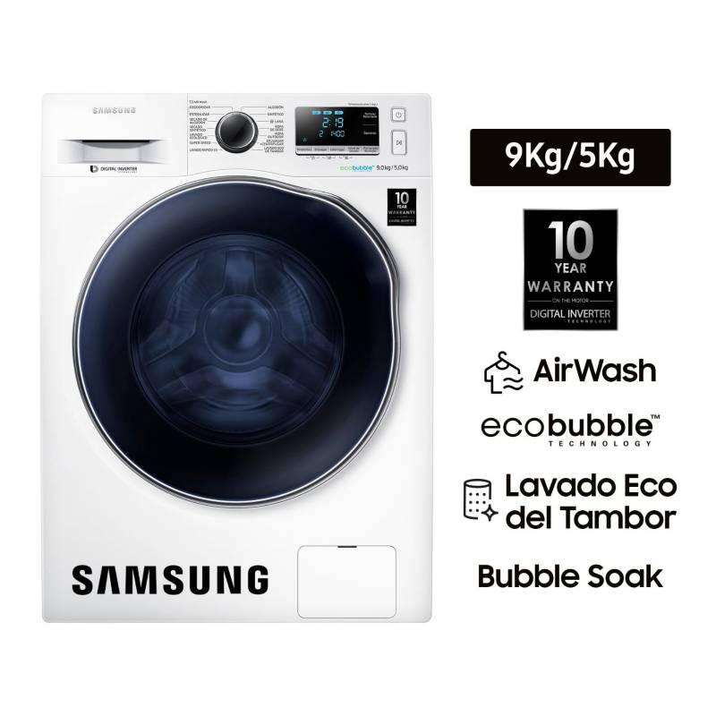 SAMSUNG - Lavaseca Samsung 9 kg / 5 kg WD90J6410AW Blanco