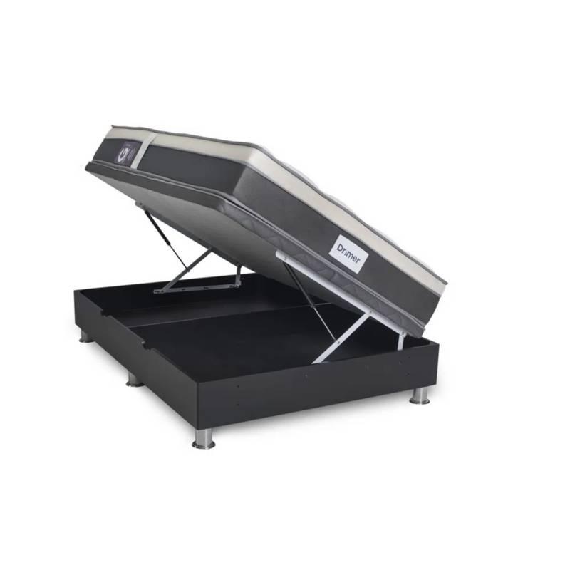 TECHNODREAM - Cama Boxet Laqueada Gravity 2 Plz + 2 Almohadas + Protector