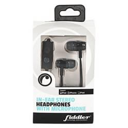 FIDDLER - Audífono con Micrófono Negro