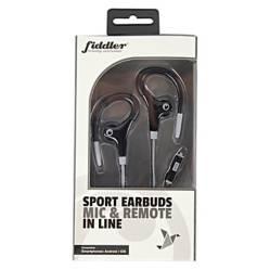 FIDDLER - Audífono Deportivos con Micrófono Negro
