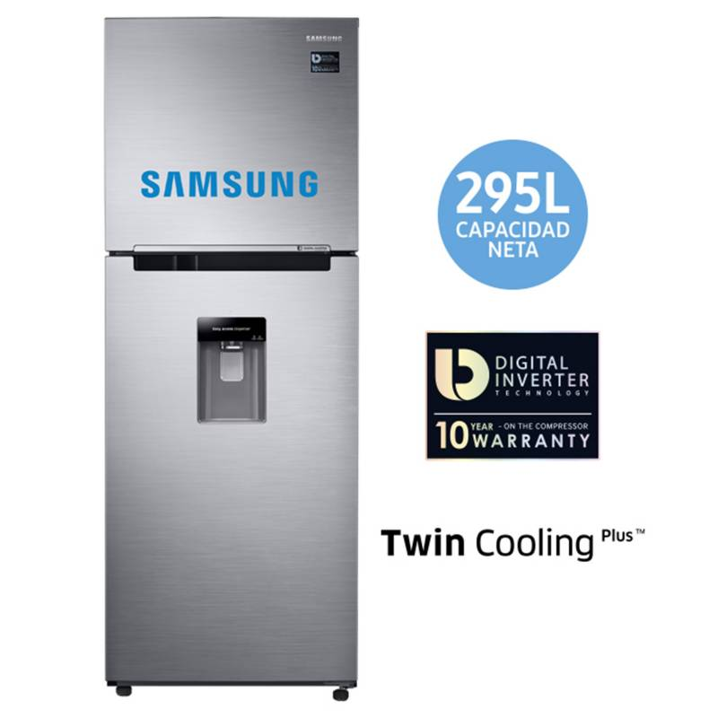 SAMSUNG - Refrigeradora 295 lt RT29K5710S8 Silver
