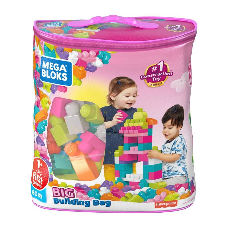 MEGA BLOKS - Bolsa Rosa Para Construir