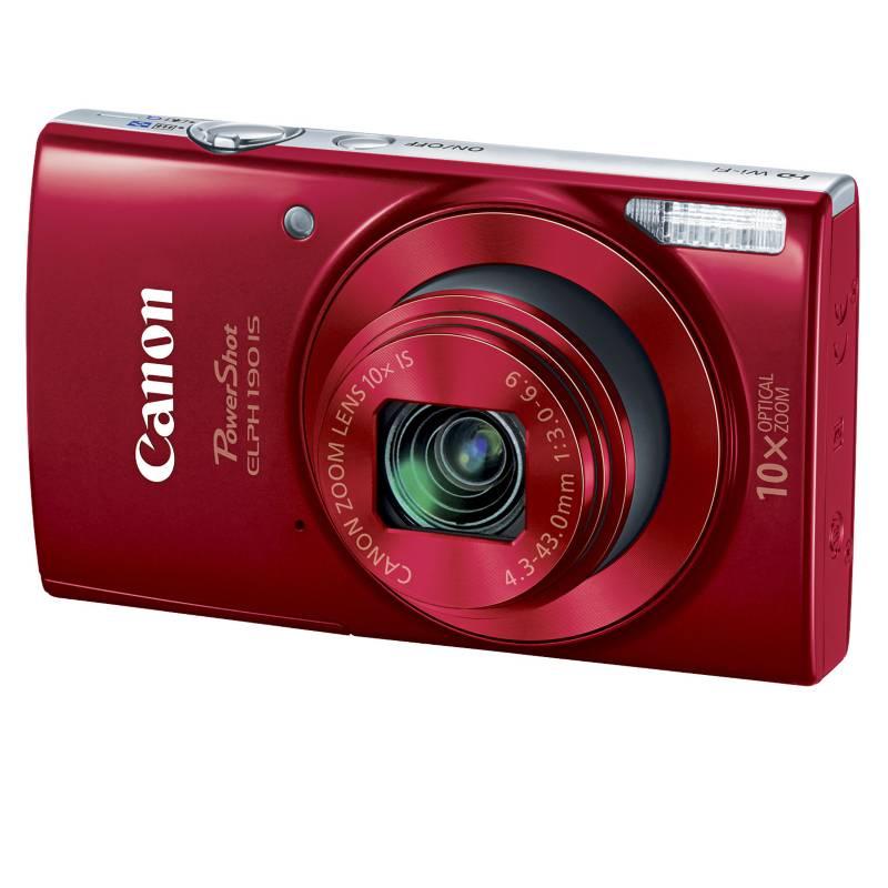 CANON - Cámara Digital Power Shot Elph 190 Kit Rojo