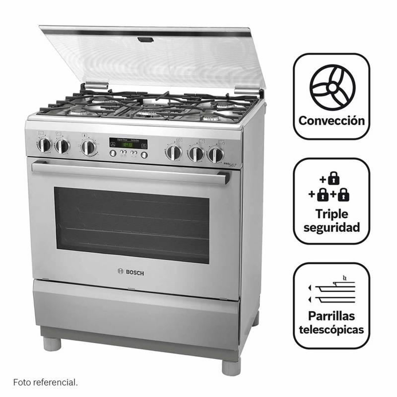 BOSCH - Cocina A Gas 05 Quemadores Pro 567 Ix