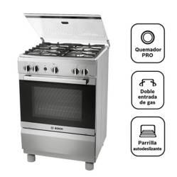 BOSCH - Cocina A Gas 04 Quemadores Pro 445 Ix