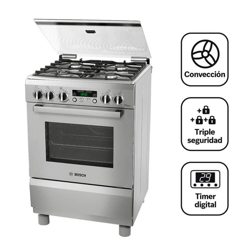BOSCH - Cocina A Gas 04 Quemadores Pro 467 Ix