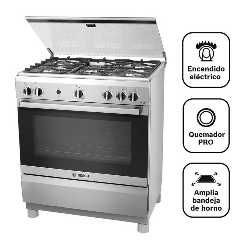 BOSCH - Cocina A Gas 05 Quemadores Pro 545 Ix