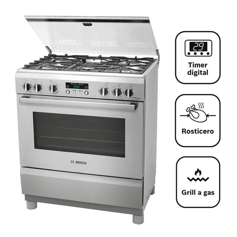 BOSCH - Cocina 5 hornillas PRO565 IX