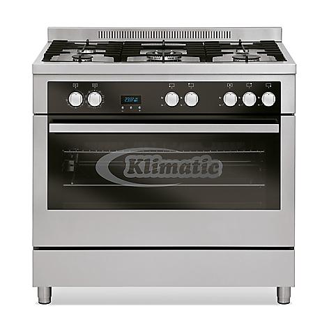 Cocina a gas klimatic mixta 5 quemadores con horno for Cocinas mixtas a gas y electricas