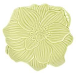 Plato Flor 20 cm Verde