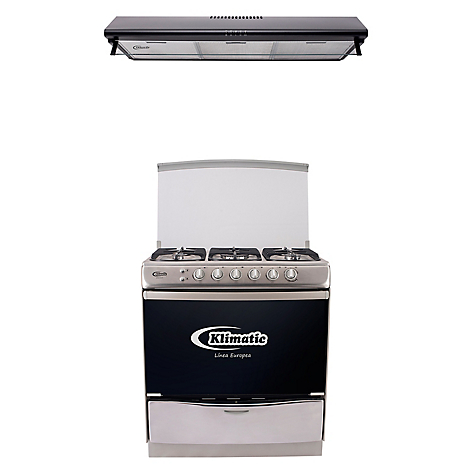 Combo klimatic cocina pie 5 hornillas campana extractora - Campana extractora 90 cm ...