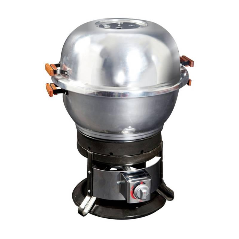 SPARTAN GRILLS - Parrilla dual Portátil Gas/Carbón