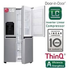 LG - Refrigeradora LG Side by Side con Puerta Mágica 601 LT GS65SDPN Plateada