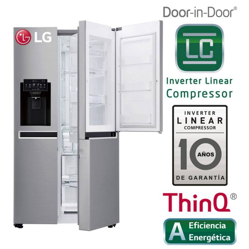 LG - Refrigeradora GS65SDPN 601 lt Inox