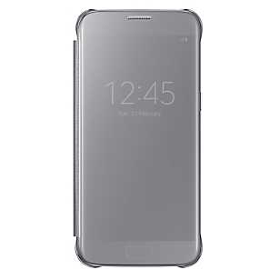 Clear View Cover Galaxy S7 Silver