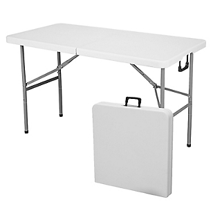 Mesa rectangular plegable 122cm