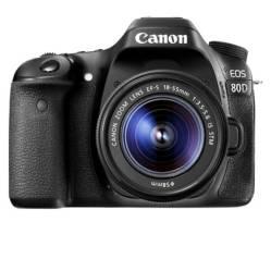 CANON - Cámara Réflex EOS  80D W Lente 18-55MM Negro