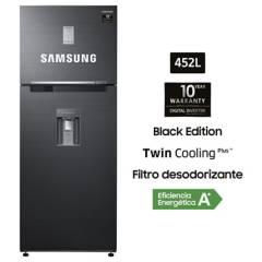 SAMSUNG - Refrigeradora 452 lt RT46K6631BS/PE Negro Inox