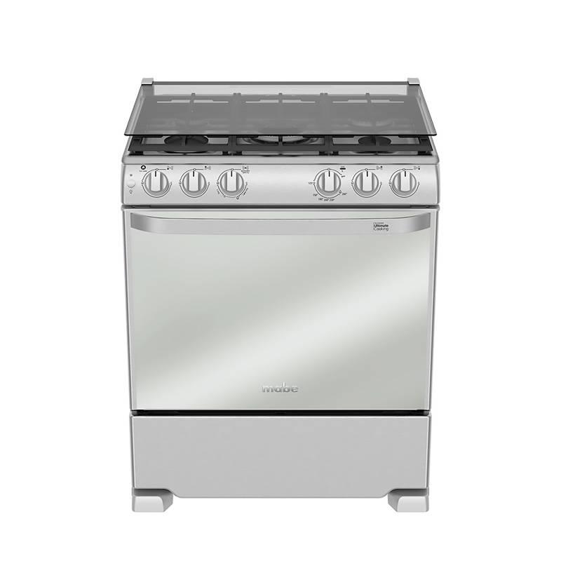 """MABE - Mabe Cocina Piso 5 Hornillas EME7685CFYX0  30"""" Inox"""