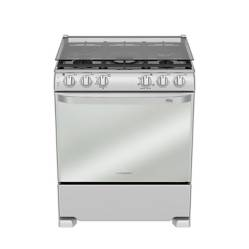 """MABE - Cocina Gas 5 Hornillas EME7682CFYX0 30"""" Inox"""