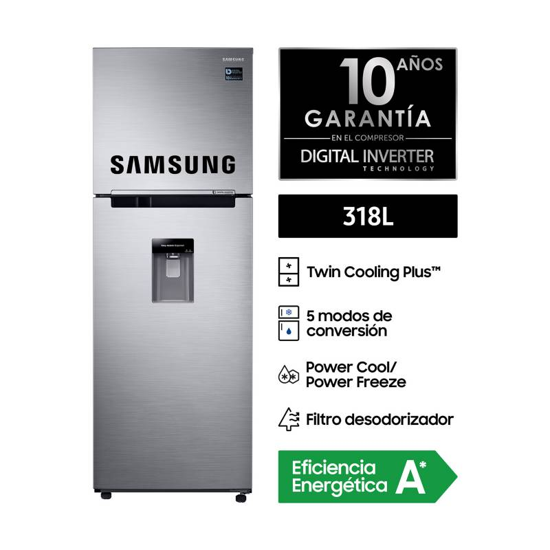 SAMSUNG - Refrigeradora 318 L RT32K5730S8 Silver